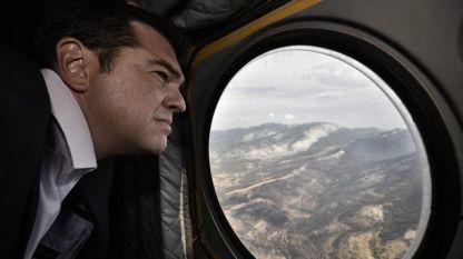 Алексис Ципрас пристигна на Тасос с военен хеликоптер