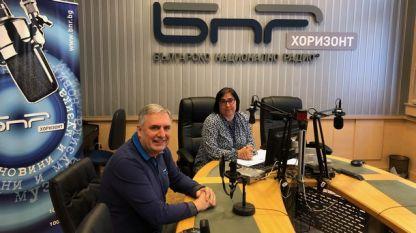 Ивайло Калфин и Диана Янкулова в студиото на