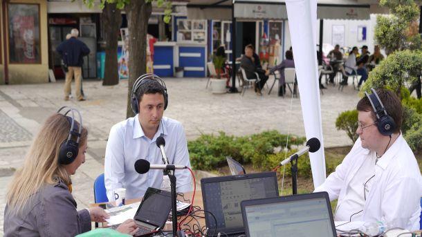 Кметът на Царево Георги Лапчев в разговор с водещите Петя Янакиева и Мариян Иванов