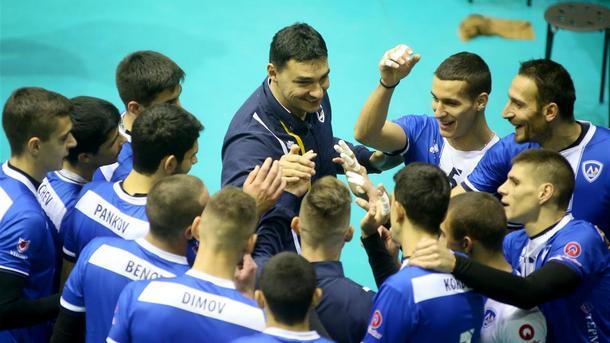 """Отборът на """"Левски"""" победи холандския """"Орион"""" (Дьотинхен) с 3:1 (22:25,"""