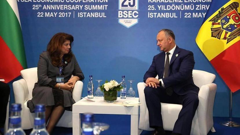 Илияна Йотова и Игорь Додон