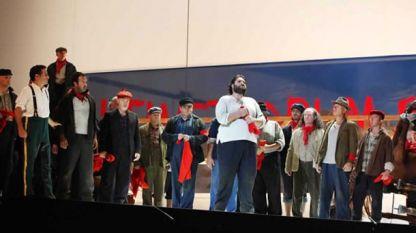 Сцена от операта (Росиниев фестивал в Пезаро - 2013 г.)