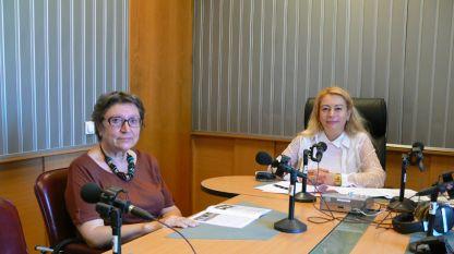 Проф. Диана Гергова (вляво) и Анелия Торошанова.