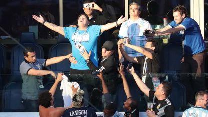 Диего Марадона на трибуните