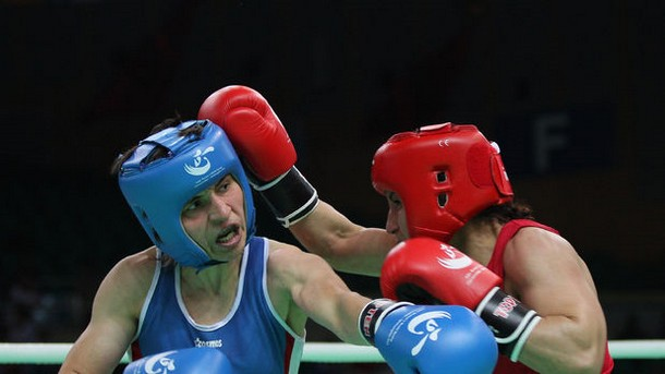 Състезателката на боксов клуб