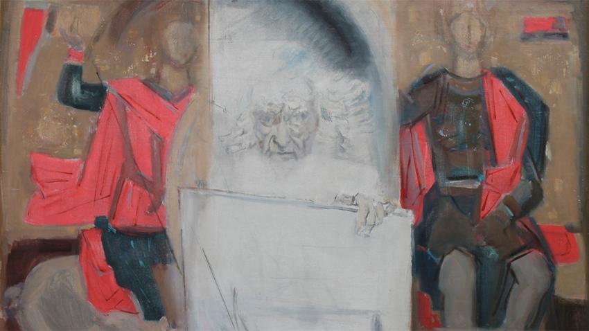 "Deçko Uzunov, ""Autoportreti me shenjtorët"""
