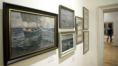 Изложбата на Александър Мутафов в Националната художествена галерия