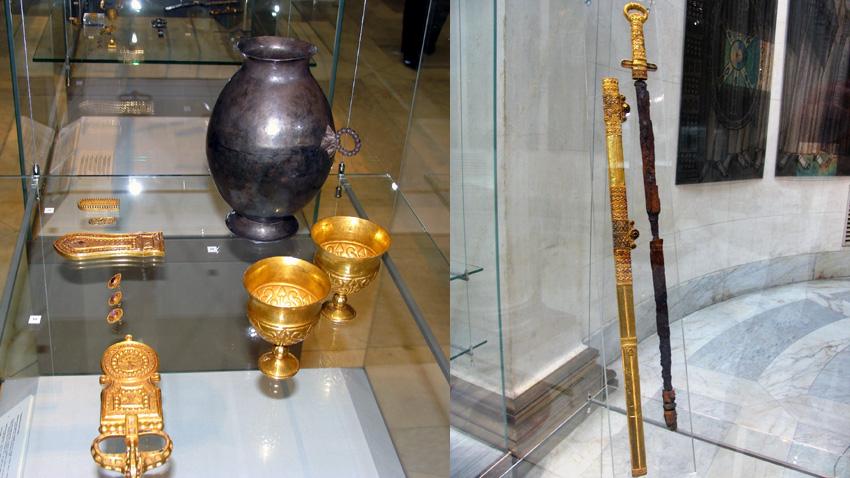 Златна тока и златен меч на хан Кубрат / Снимка: Таня Харизанова