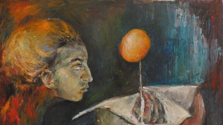 """""""Създаване на мисълта"""", автопортрет."""