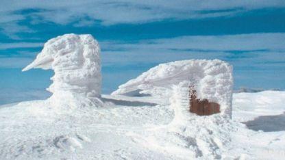 връх Ком в зимни условия