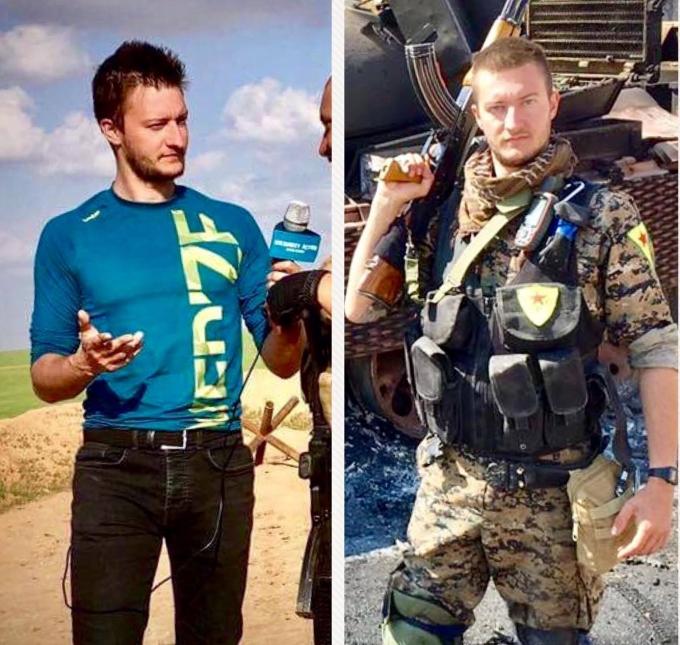 Клаудио Локаттели остави за седем месеца ролята на журналист и избра да се бори като доброволец срещу Ислямската държава в Сирия