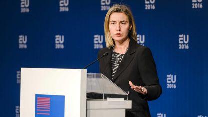 Върховният представител по въпросите на външната политика и сигурността Федерика Могерини