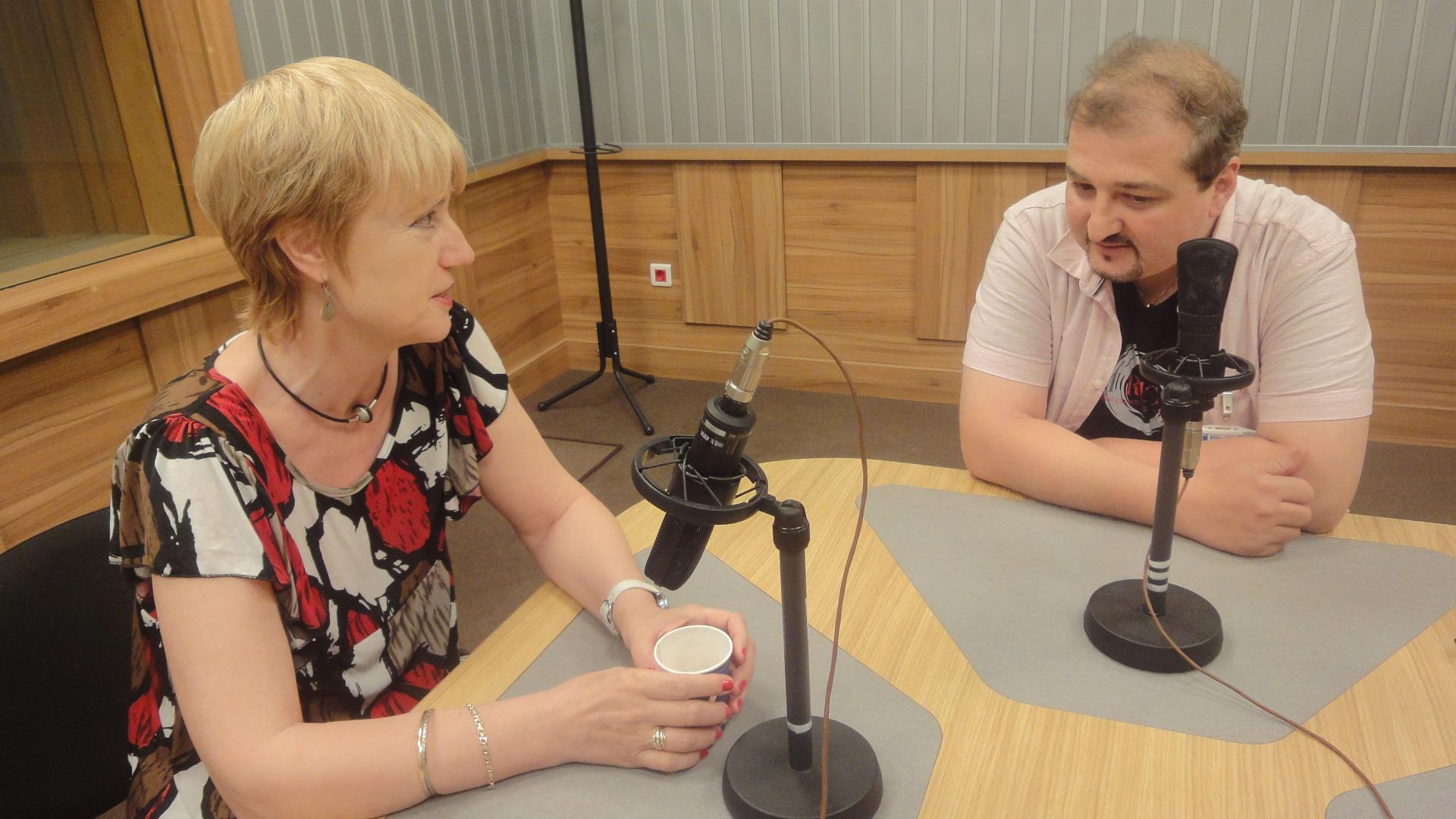Аделина Александрова и Иво Върбанов в студиото на