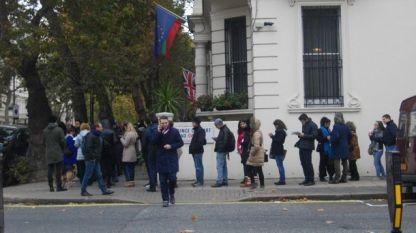 Фрагмент от изборния ден в Лондон