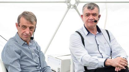 Проф. Коста Костов и проф. Тодор Попов