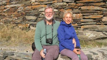 Кристофър Бъкстон и съпругата му Анна Бъкстон