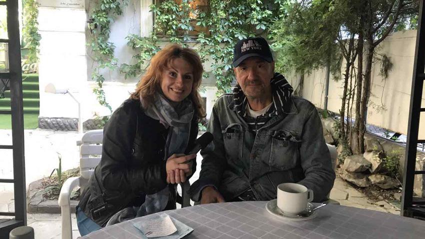 Невена Праматарова и Влатко Стефановски след концерта на големия музикант в София.