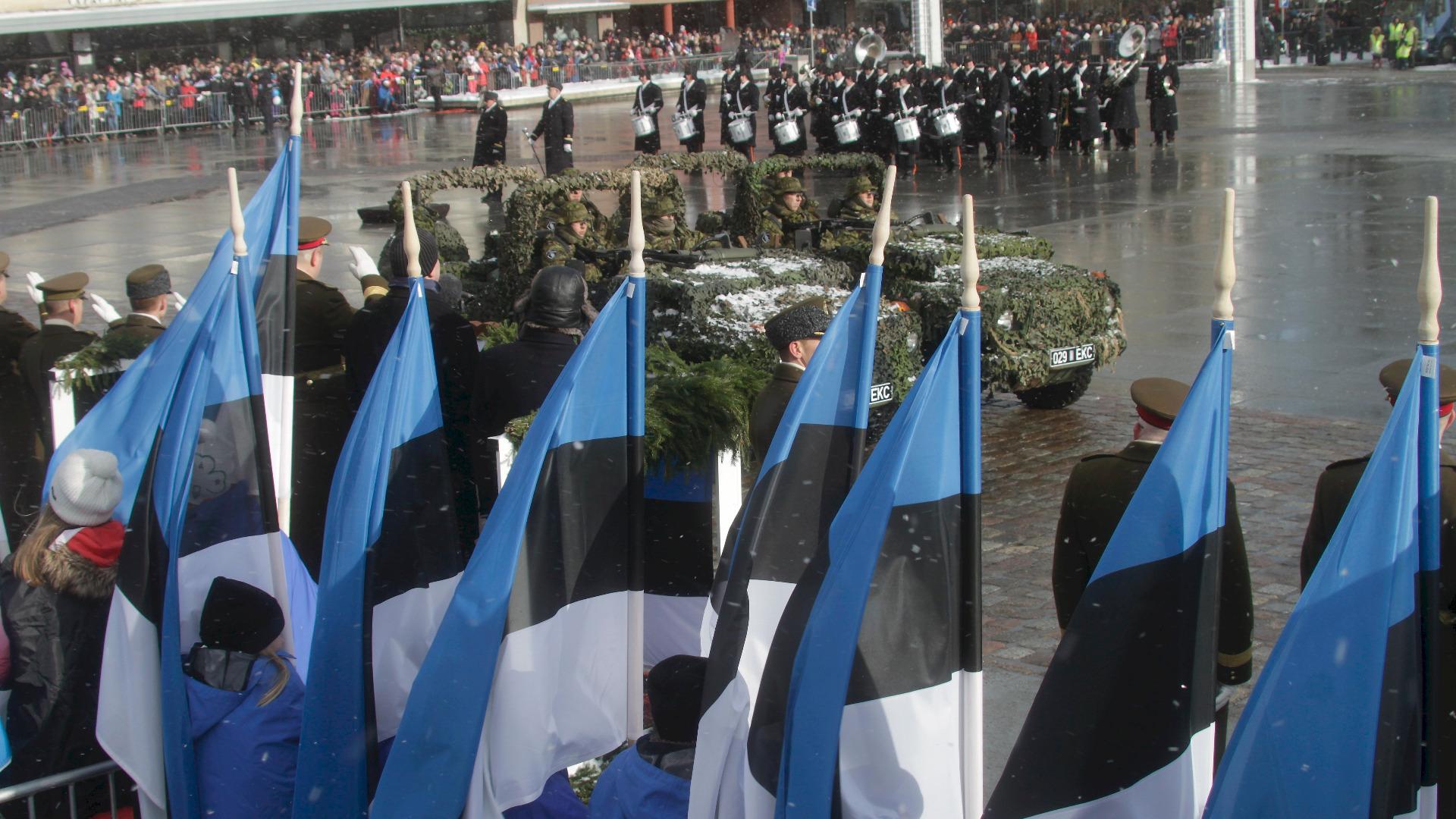 Естония отбеляза вчера стотната годишнина на независимостта си с голям