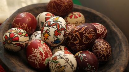 A record for decorating the greatest number of eggs simultaneously was set in Sofia last year. It took hundreds of participants three minutes to paint 2,500 eggs.
