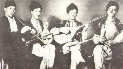 """Бистришка четворка"": Цвятко Благоев, Йордан Белкин, Деян Матеин и Ангел Кривински (отляво надясно)"