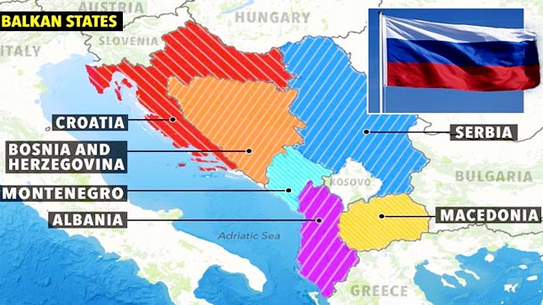 Russian influence in the Balkan region Politics