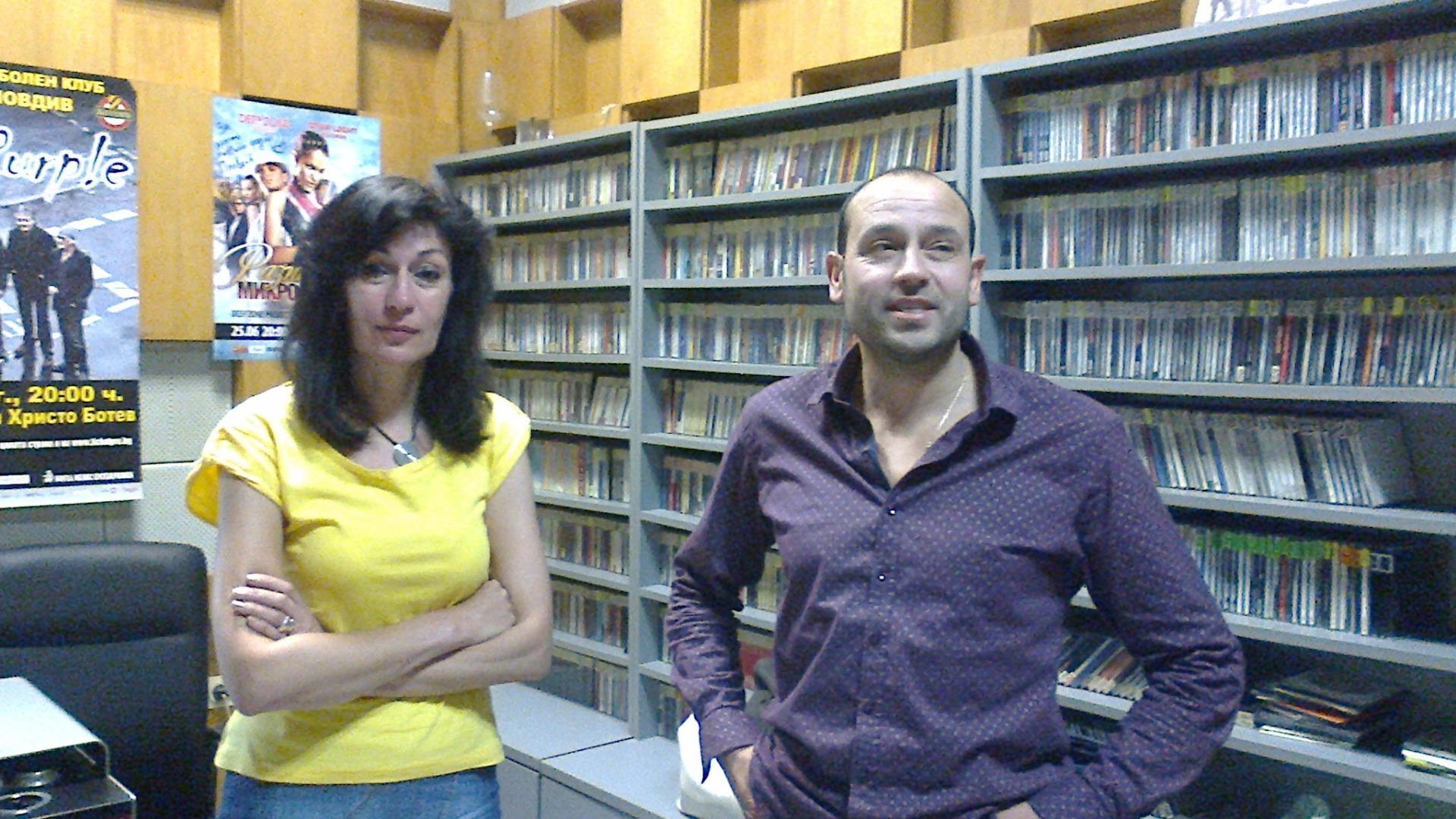 журналистите Ваня Драганова и Цветан Симеонов