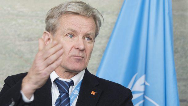 Ръководителят на хуманитарната мисия на ООН в Сирия Ян Егеланд