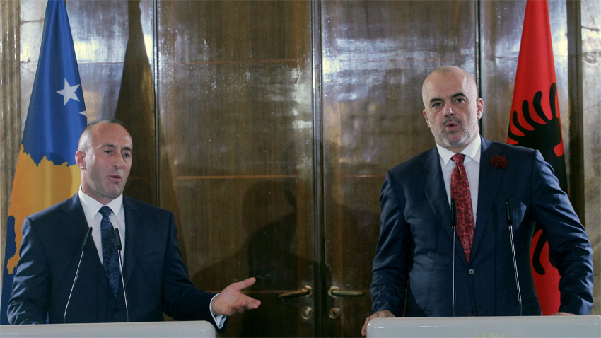 Ramush Haradinaj et Edi Rama  /  Photo: BGNES