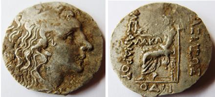 Тетрадрахма, сечена в Одесос (80-70 г. Пр. Хр.)