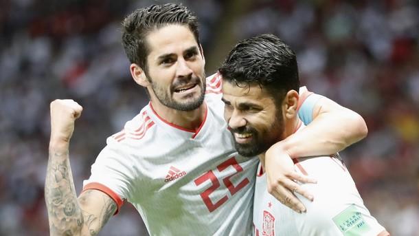 С късметлийски гол на Диего Коща след почивката Испания победи