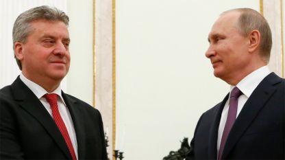 Георге Иванов и Владимир Путин на встрече в Москве.