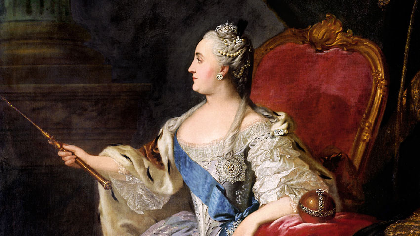 Екатерина Велика - портрет от Фьодор Рокотов