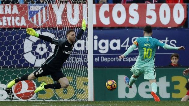 """Лионел Меси донесе победата на """"Барселона"""" с 2:1 като гост на """"Атлетико"""" (Мадрид)"""