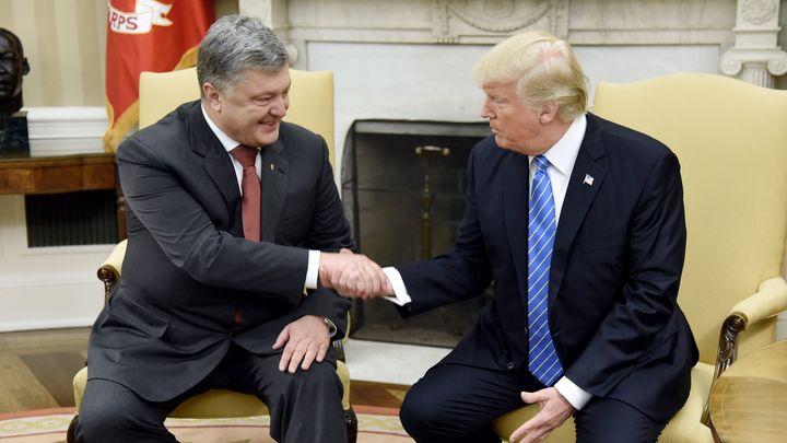 Петро Порошенко и Доналд Тръмп в Белия дом през юни 2017 г.