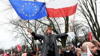 Протест срещу правителството в Полша