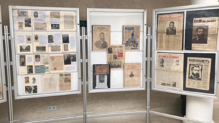 Фрагмент от изложбата, представяща колекцията на инж. Георги Мъндев