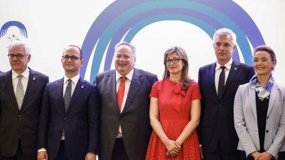 Външните министри на Полша, Албания, Гърция, България, Словакия и Хърватска