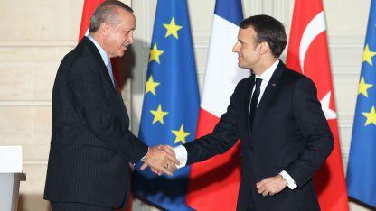Президентите на Турция Реджеп Тайип Ердоган и на Франция Еманюел Макрон