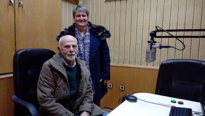 Виторио и Дияна Лофреда в студиото на Радио Стара Загора