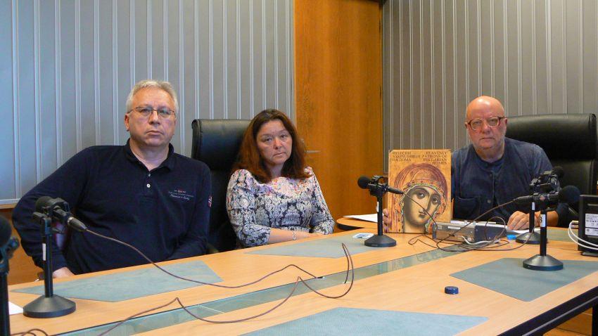 Румен Манов, Мариела Стойкова и Румен Леонидов в студиото на