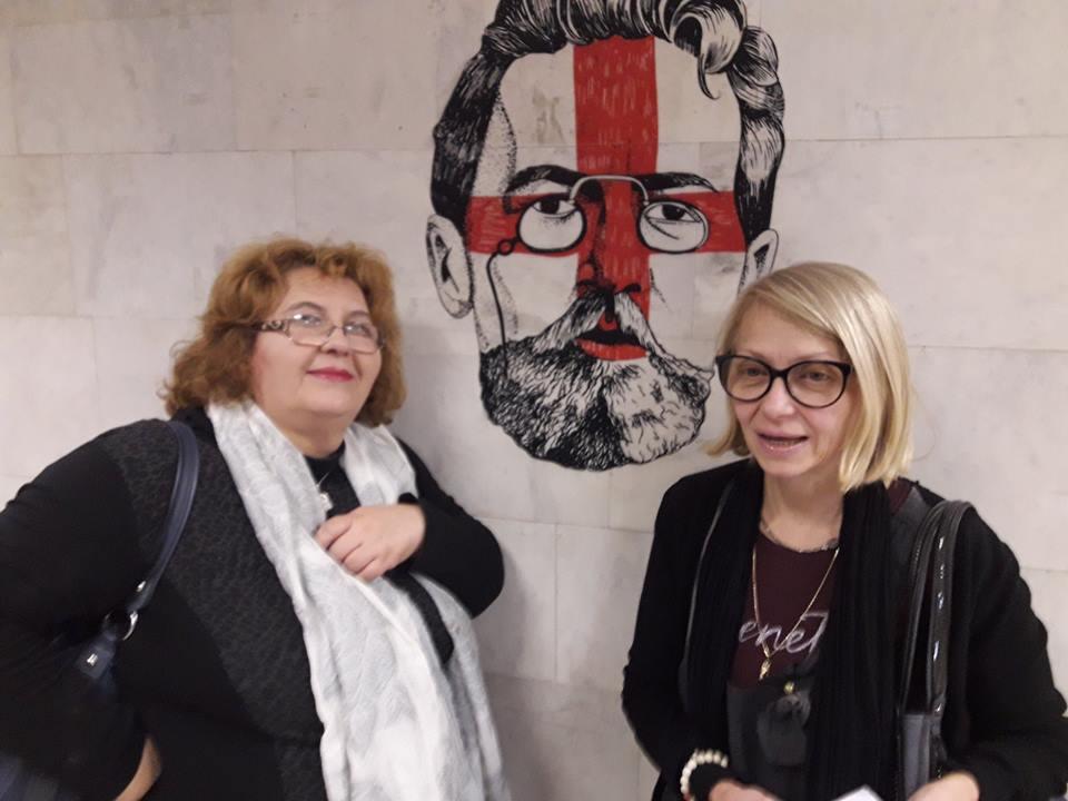 С театроведа Василка Бумбарова в театъра в Перм, Русия