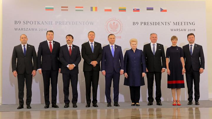Президентът Румен Радев е във Варшава на срещата на високо равнище във формат Б9.