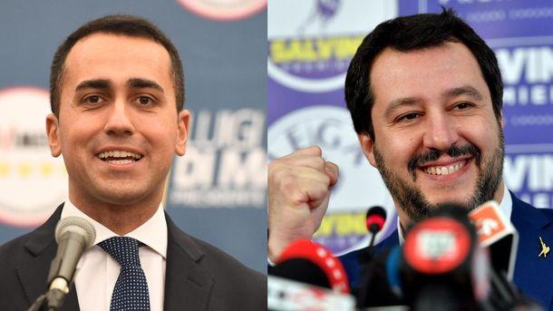 Луиджи ди Майо (вляво) и Матео Салвини изразиха готовност да формират правителство на Италия, въпреки че формациите им не получиха мнозинство на изборите в неделя.