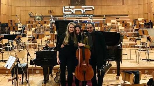 На записи в Първо студио на БНР с Кристина Милер и Марио Хосен