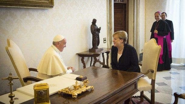 Папа Франциск и Ангела Меркел