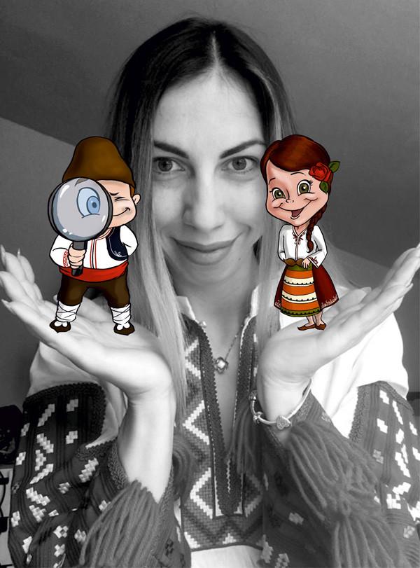 Българознайко и Българознайка в ръцете на Виктория Петкова