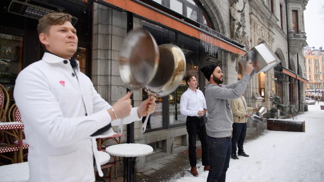 Шведски ресторантьори протестират срещу ограничителните мерки. Януари, 2021 г. Снимка: ЕПА/БГНЕС