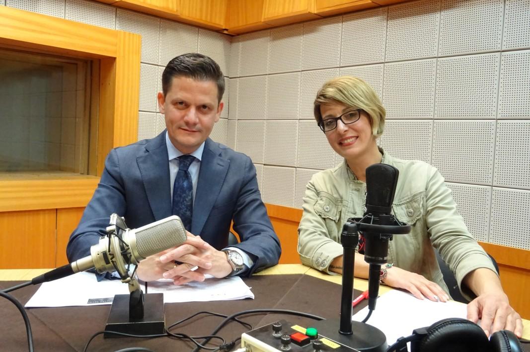 Димитър Маргаритов и водещата Биляна Славчева