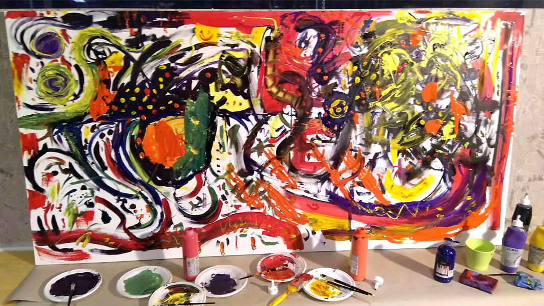 The joint painting made in support of Ellya