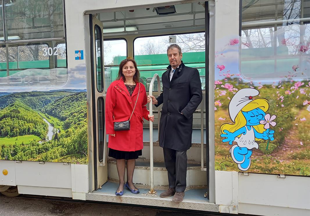 Петя Илиева и Е. П. Фредерик Мерис, посол Королевства Бельгии в Болгарии